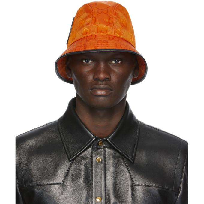 Gucci GUCCI ORANGE OFF THE GRID GG SUPREME BUCKET HAT