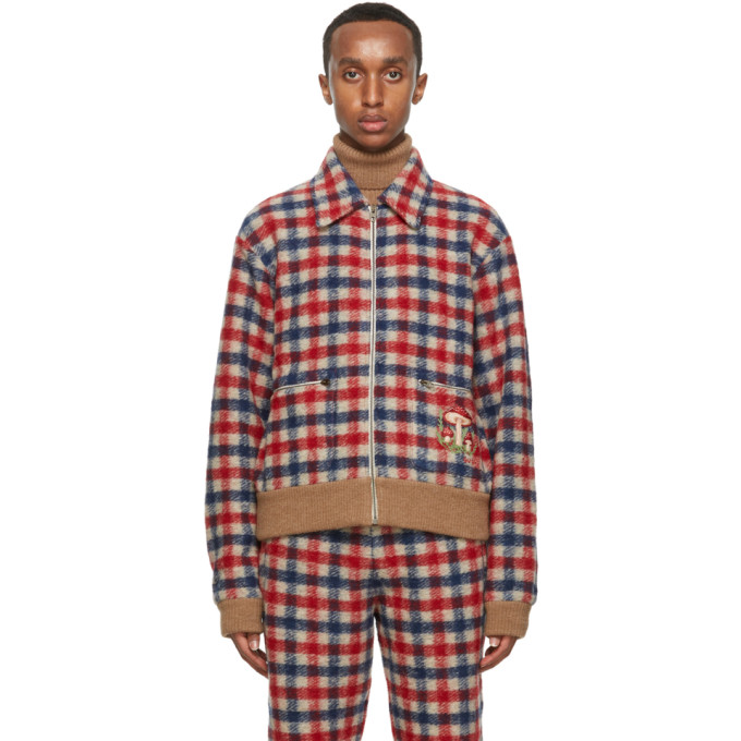Gucci Gucci Multicolor Wool Cut and Sewn Jacket