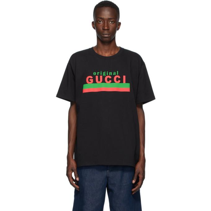 Gucci GUCCI BLACK ORIGINAL GUCCI T-SHIRT