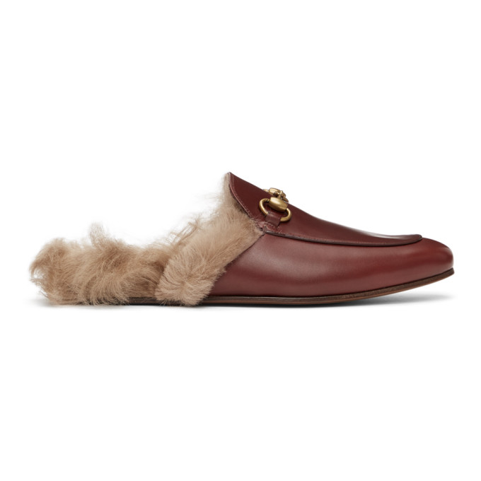 Gucci GUCCI BURGUNDY PRINCETOWN LOAFERS