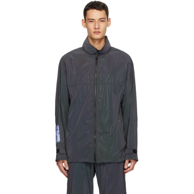 MCQ MCQ Black Reflective Windbreaker Jacket