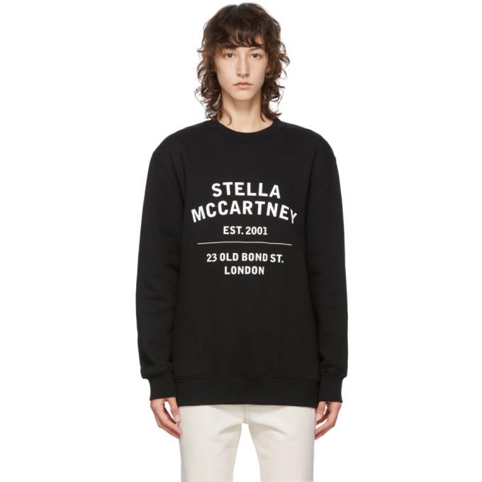 STELLA MCCARTNEY STELLA MCCARTNEY BLACK 23 OLD BOND STREET SWEATSHIRT