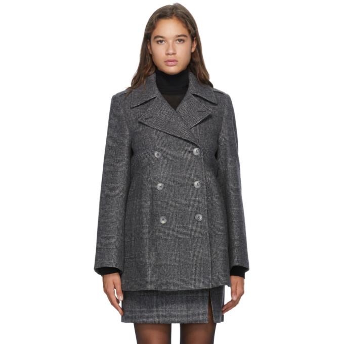 Nina Ricci Nina Ricci Grey Wool Double-Breasted Jacket