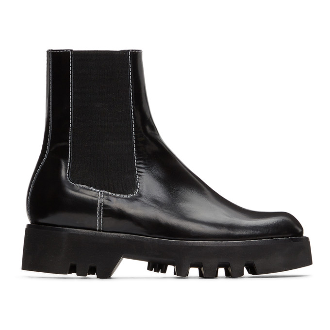 JW Anderson Black Chelsea Ankle Boots