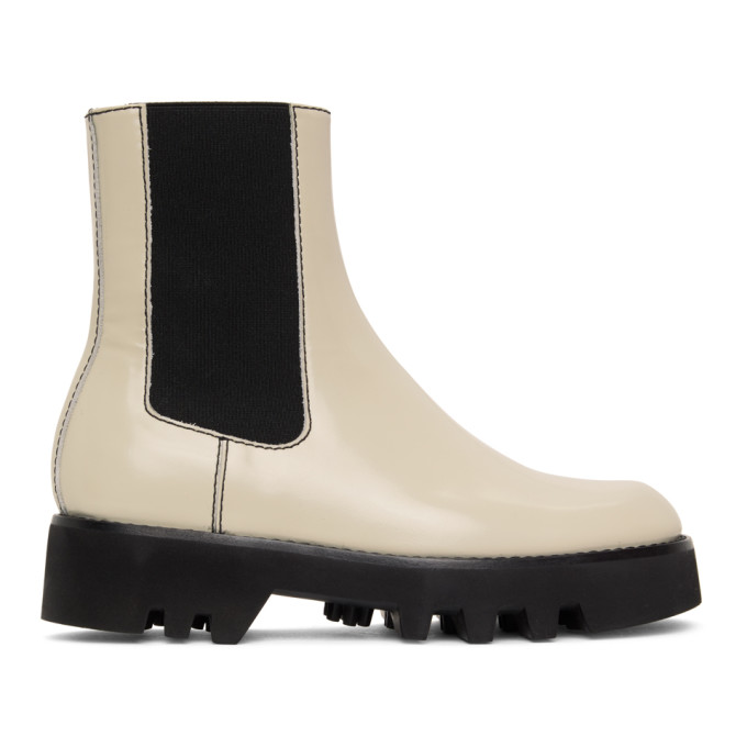 JW Anderson Off-White Logo Chelsea Boots