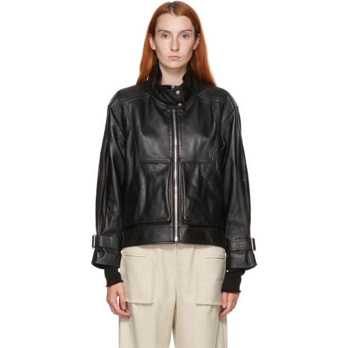 Kim Matin Kim Matin Black Leather Oversized Jacket