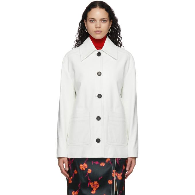 Meryll Rogge Meryll Rogge White Leather Vintage Jacket