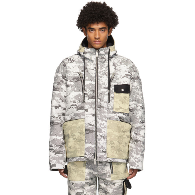 ADYAR ADYAR SSENSE Exclusive Black and White Camo Shell Jacket