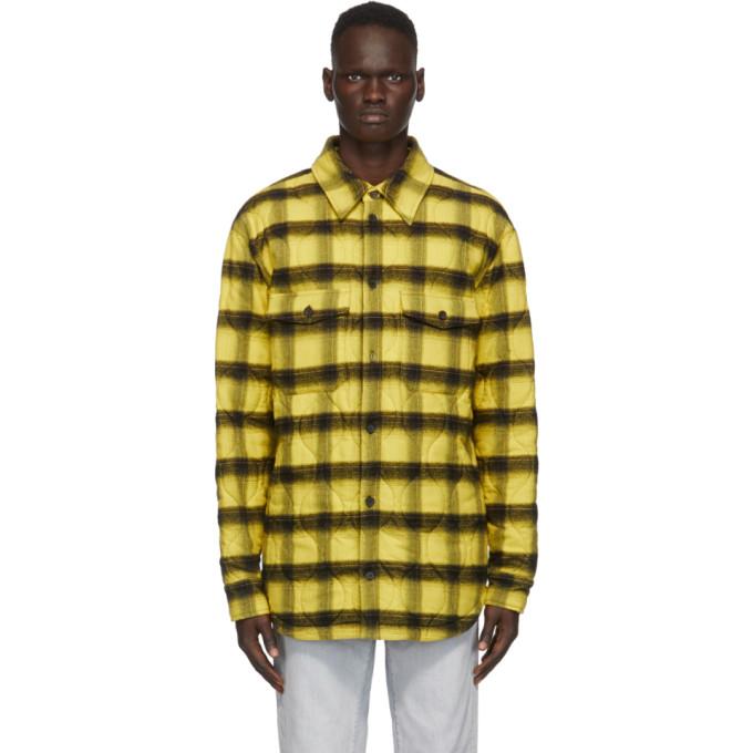 Marcelo Burlon County of Milan Marcelo Burlon County of Milan Yellow Check Flannel Jacket