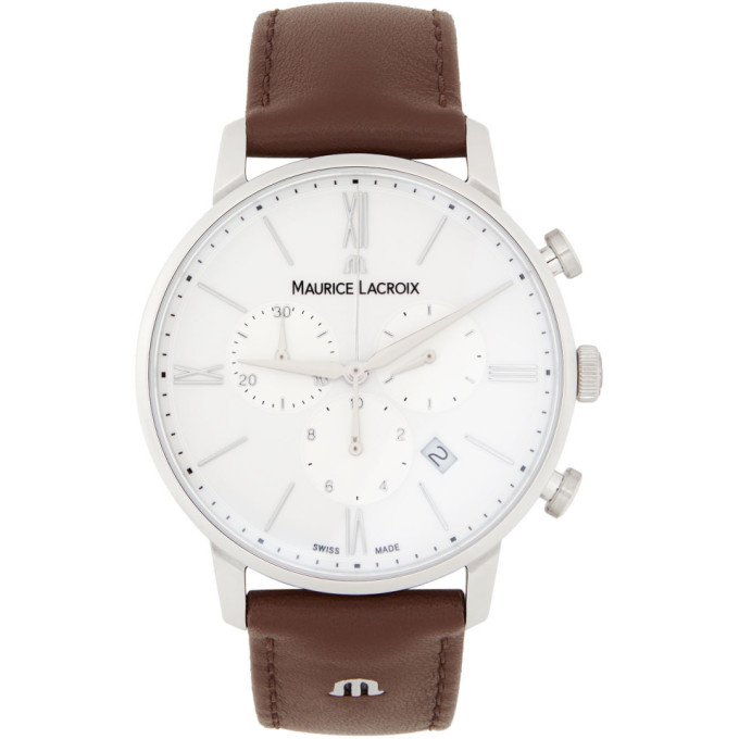 Maurice Lacroix Maurice Lacroix White and Brown Eliros Chrono Watch