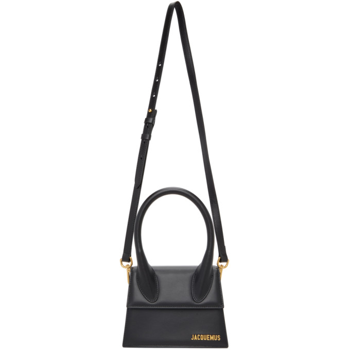 Jacquemus Leathers JACQUEMUS BLACK LE CHIQUITO MOYEN TOP HANDLE BAG