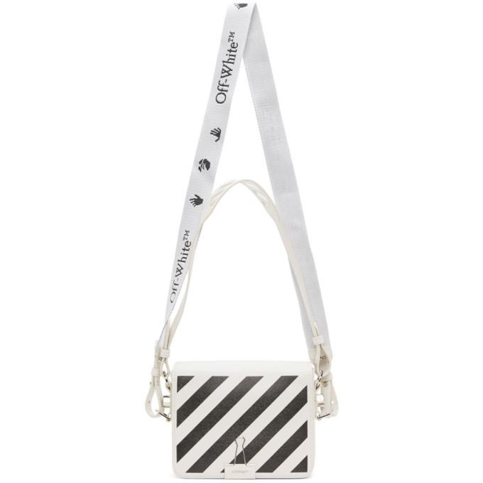 Off-white Black & White Baby Diag Flap Bag