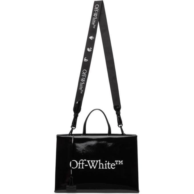 OFF-WHITE Leathers OFF-WHITE BLACK MEDIUM BOX BAG
