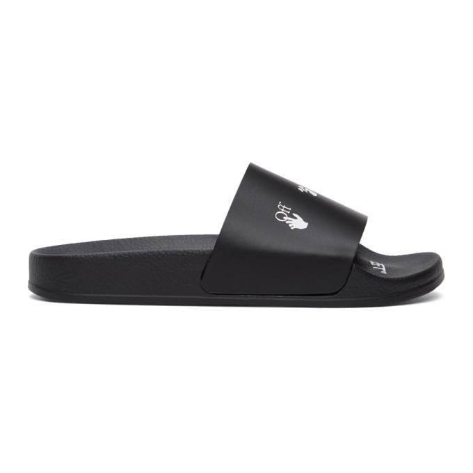 Off-White Slides OFF-WHITE BLACK NEW LOGO POOL SLIDES