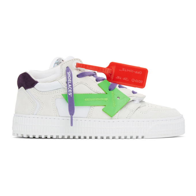 OFF-WHITE OFF-WHITE WHITE AND PURPLE OFF COURT 3.0 SNEAKERS