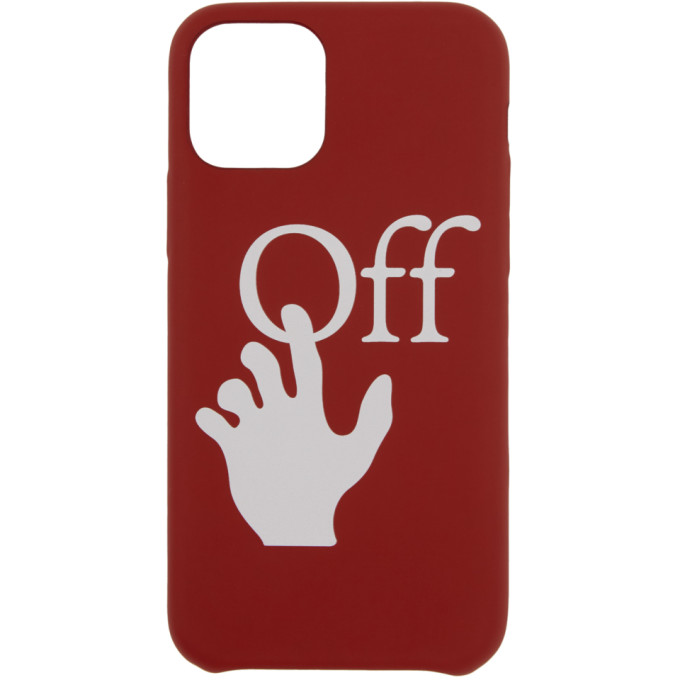 Off-White OFF-WHITE RED HANDS OFF IPHONE 11 PRO CASE