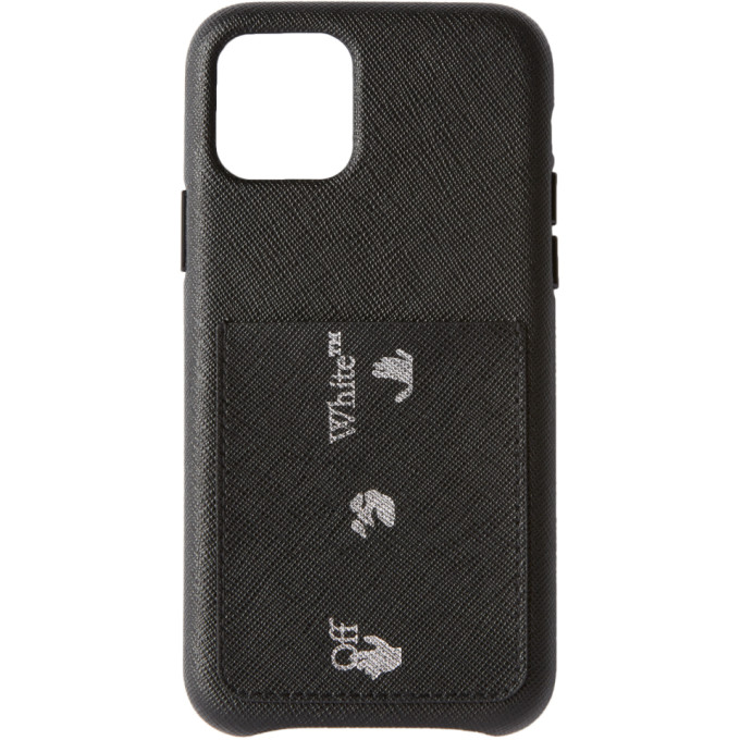 Off-White Black Saffiano iPhone 11 Pro Case  - buy with discount