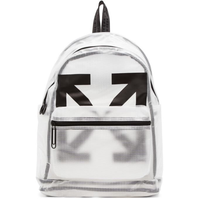Off-White OFF-WHITE WHITE AND BLACK ARROWS PVC BACKPACK