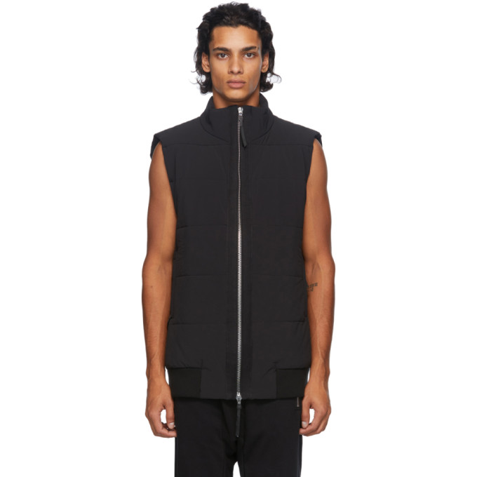 11 by Boris Bidjan Saberi Black Zip Up Vest 202610M18500506