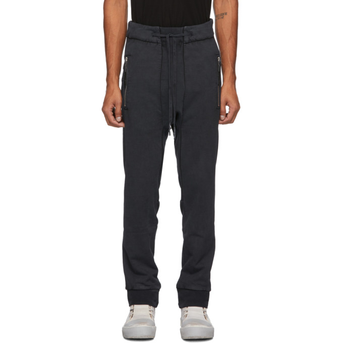 11 by Boris Bidjan Saberi Black French Terry Lounge Pants 202610M19000504