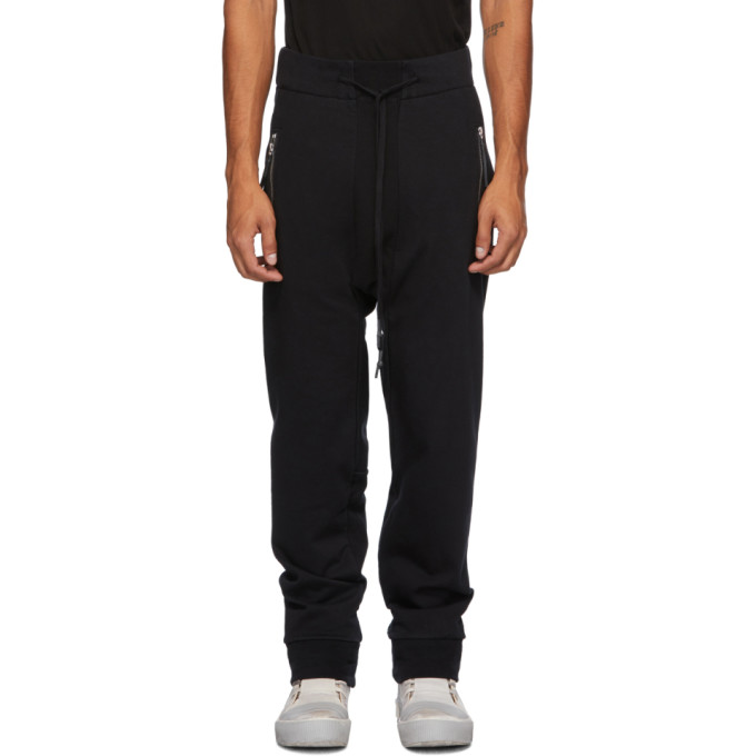 11 by Boris Bidjan Saberi Black Jersey Lounge Pants 202610M19000603