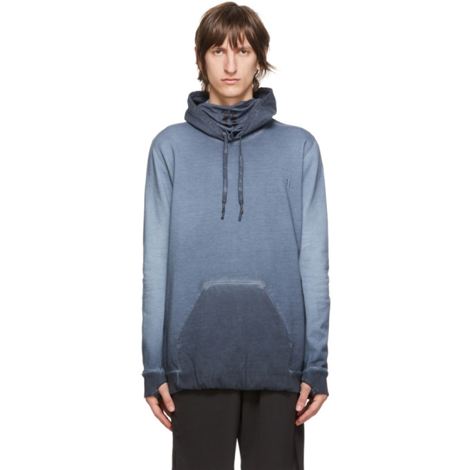 11 by Boris Bidjan Saberi Blue Embroidered Logo Hoodie 202610M20200905