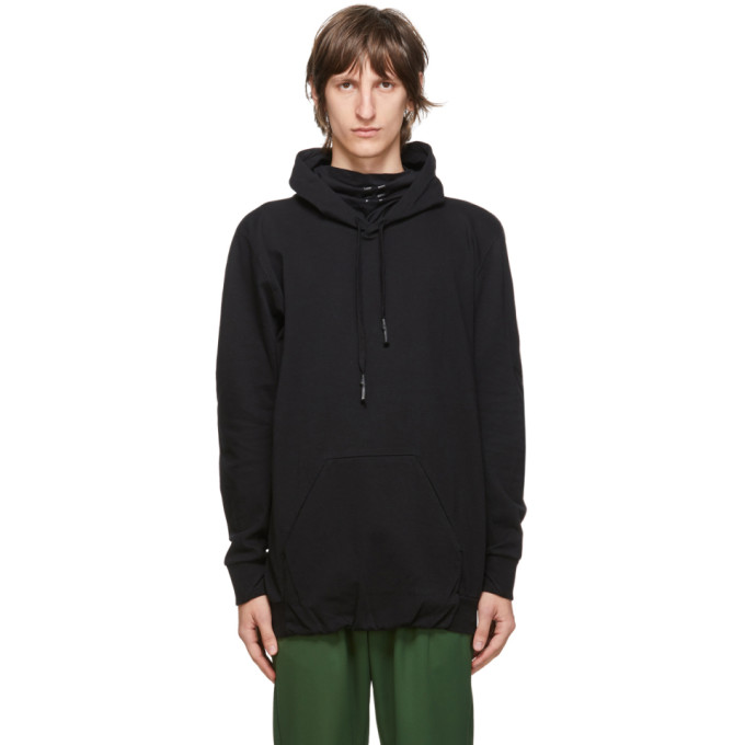 11 by Boris Bidjan Saberi Black Embroidered Logo Hoodie 202610M20201202