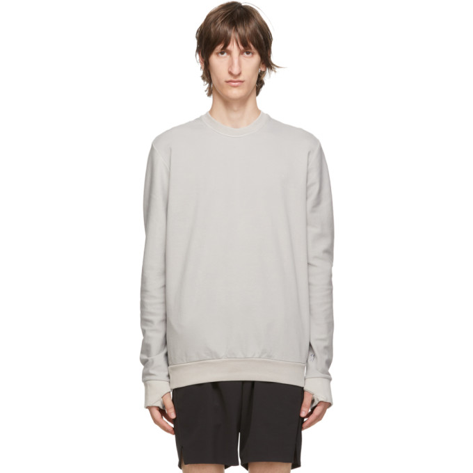 11 by Boris Bidjan Saberi Grey Cotton Sweatshirt 202610M20400704