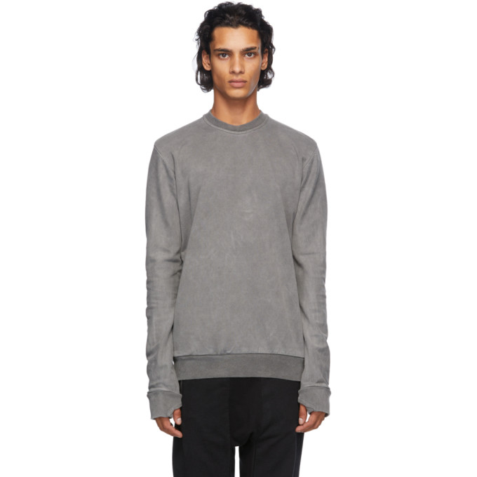11 by Boris Bidjan Saberi Grey Cotton Sweatshirt 202610M20400802