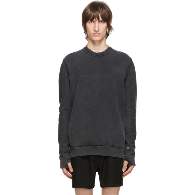 11 by Boris Bidjan Saberi Grey Middle Finger Sweatshirt 202610M20400905