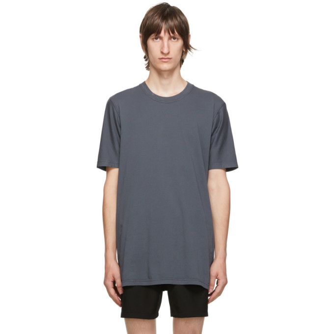 11 by Boris Bidjan Saberi Blue Cotton T Shirt 202610M21301604