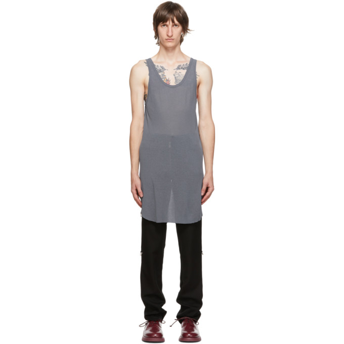 11 by Boris Bidjan Saberi Grey Synth Tank Top 202610M21402507