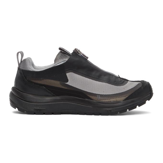 11 By Boris Bidjan Saberi Grey Salomon Edition Bamba 2 Low Sneakers In Light Grey
