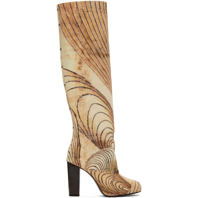 Lemaire Multicolor Martin Ramirez Printed Tall Boots
