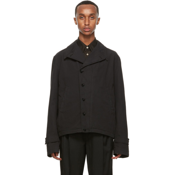 Lemaire Jackets LEMAIRE BLACK FIELD JACKET