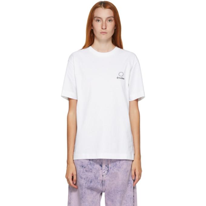Etudes T-shirt a logo blanc Wonder