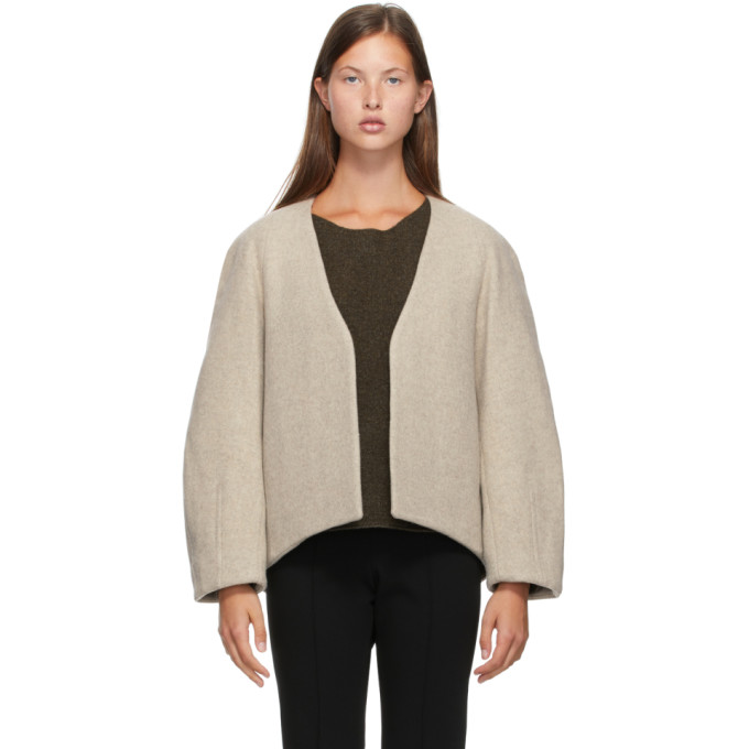 LOW CLASSIC LOW CLASSIC Beige Classic No Button Jacket