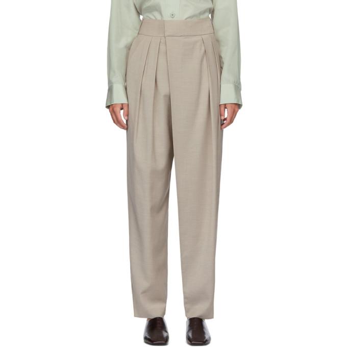 LOW CLASSIC Pantalon beige Wide Tuck
