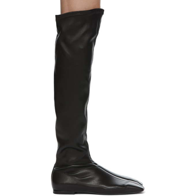 Low Classic LOW CLASSIC BLACK SQUARE TOE LONG BOOTS