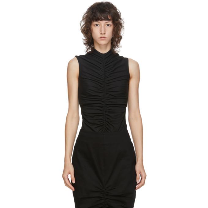 Edit T-shirt sans manches noir Ruch Front exclusif a SSENSE