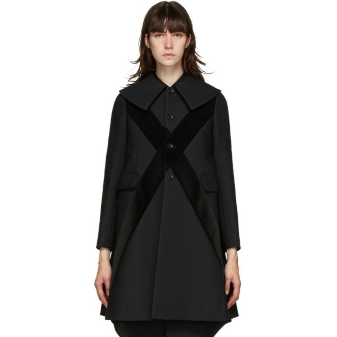 Comme Des Garçons Comme Des Garçons Comme Des Garcons Comme Des Garcons Black Velvet Cross Coat In 1 Black