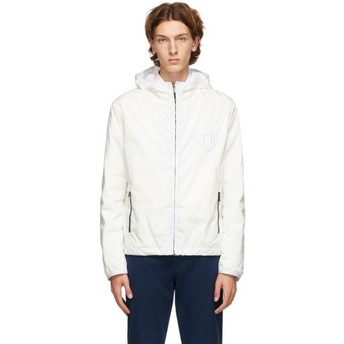 Fendi Fendi White Rain Forever Fendi Effect Jacket