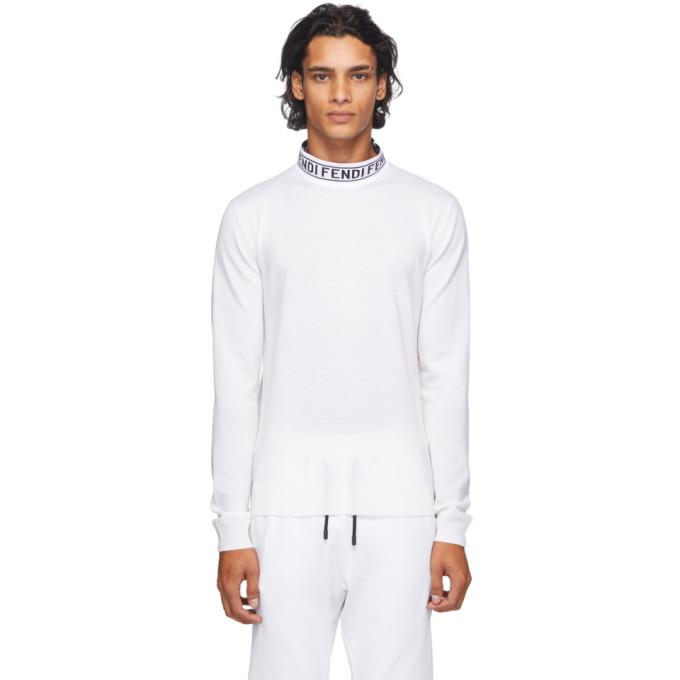 Fendi オフホワイト ウール テープ セーター
