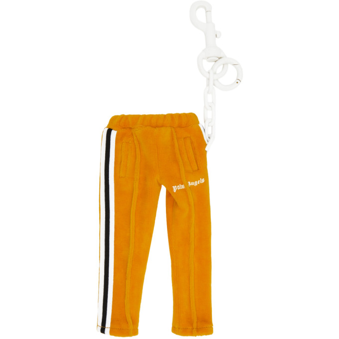 Palm Angels PALM ANGELS ORANGE MINI TRACK PANTS KEYCHAIN