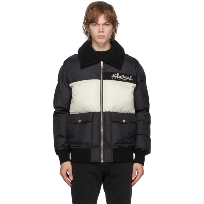 Palm Angels Downs PALM ANGELS BLACK AND WHITE DESERT LOGO JACKET