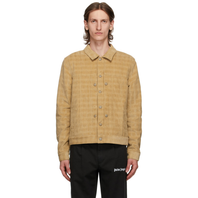 Palm Angels Palm Angels Tan Checkered Corduroy Jacket