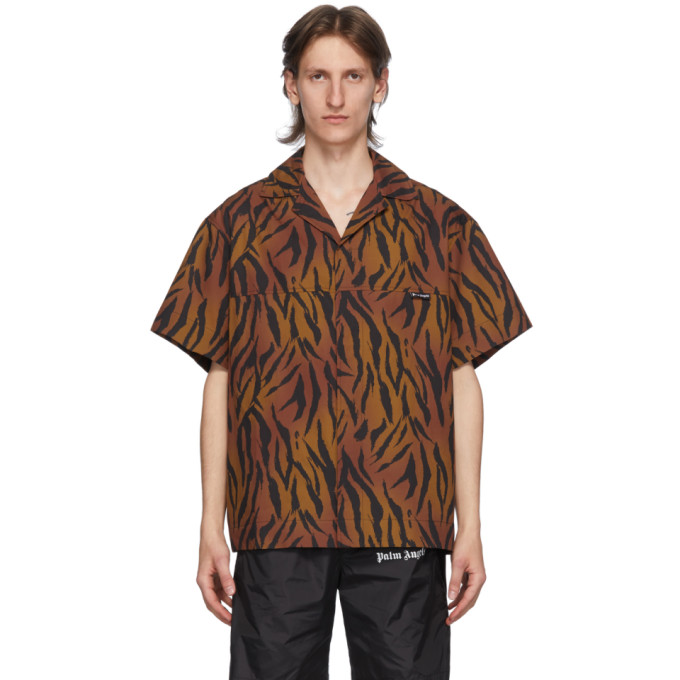Palm Angels Tiger ボウリング シャツ