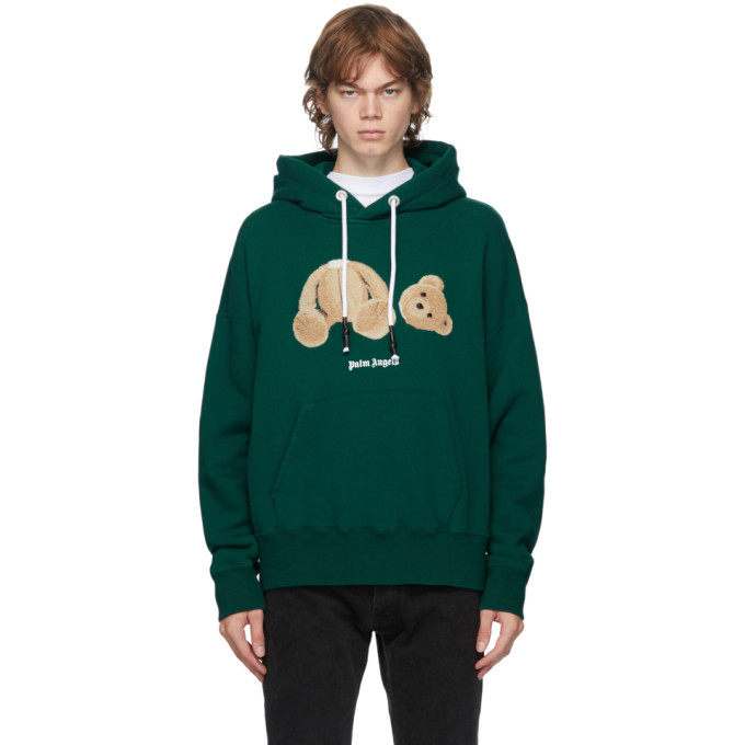 Palm Angels PALM ANGELS GREEN BEAR HOODIE