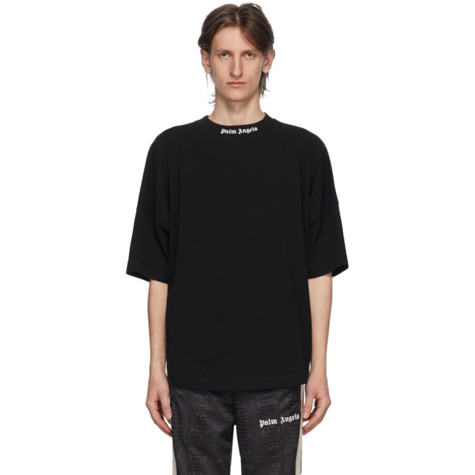 Palm Angels Black Classic Logo T-Shirt  - buy with discount