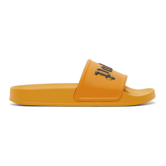 Palm Angels Sandales a enfiler a logo orange